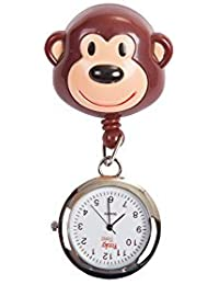 FunkyNurse Monkey Retractable Pull Reel with Watch