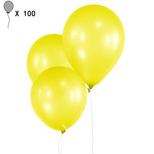 100 pz in lattice 10 pollici perla spesse palloncini matrimonio bambini compleanno Natale vacanza partito decorativo palloncini festa forniture Yellow