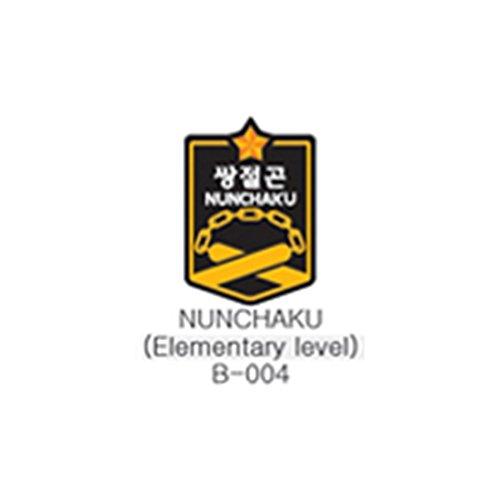 Mooto Taekwon Taekwondo Waffen Patch Uniform für Männer 10 Stück Nunchaku B-004 Gelb Rot Grau (Taekwondo Patch Uniform)