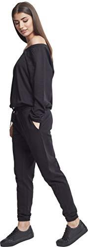 Urban Classics Damen Jumpsuit Ladies Cold Shoulder Terry, Schwarz (Black 00007), X-Small - 3