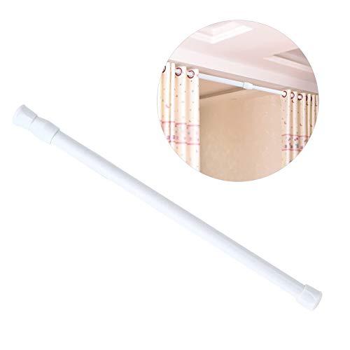 Asta per tenda,30-50cm con molla a pressione asta tensione a molla regolabile tenda allungabile palo binario finestra barra telescopica resistente alla ruggine per bagno negozio abbigliamento cucina