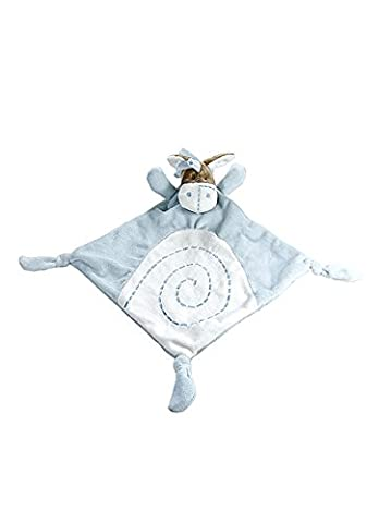 Baby Comfort Blanket Security Blankie Doudou Little Blue Donkey Plush Soft Toy for Baby Boy