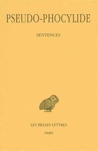 Sentences par Phocylide (Pseudo-)