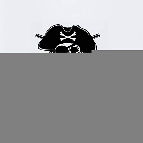 Wandaufkleber Kinderzimmer wandaufkleber 3d Schädel Halloween Pirat Pistole Aufkleber Punk Tod Aufkleber Teufel Poster Name Autofenster Kunst Dekor Wandbild (Sprüche Halloween Piraten)