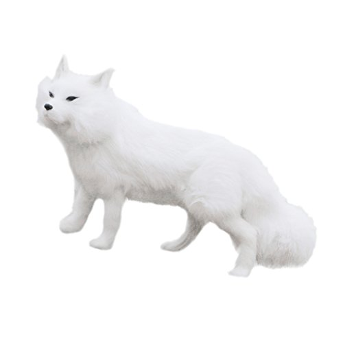 Sharplace Figurine de Renard Jardin Animaux Statuette Décoratif Blanc