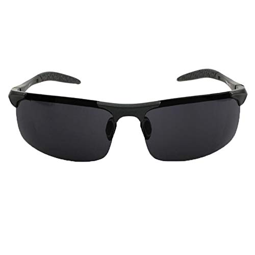 xinzhi Fahrrad-Sonnenbrille, Herren-Sonnenbrille polarisierte Sonnenbrille Brille Imitation Aluminium Magnesium Brille - Gun Frame Grey