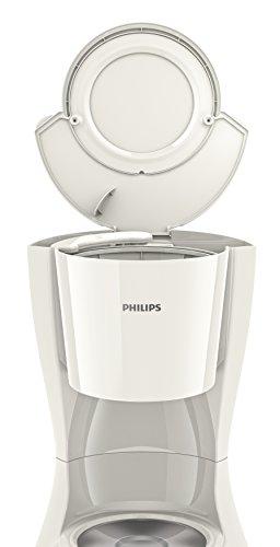 Philips HD7461/00 Daily Filter-Kaffeemaschine, abnehmbarer, ausschwenkbarer Filter, weiß