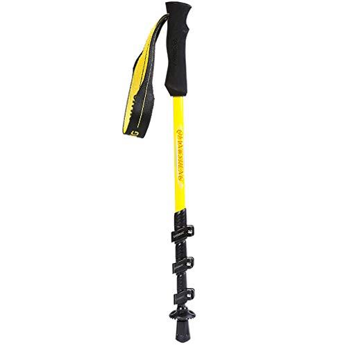 Weiyue Trekkingstange- Locking Trekking Pole Ultra Short und Ultraleichtes Teleskop Wandern Spazierstock Kinder Klettern Stick (Farbe : Gelb, größe : 52-120cm) - Größe Spazierstock, Kind