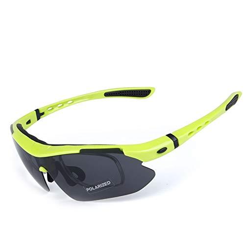 Bishilin Brille Winddicht Radsport Gelb Motorradbrille Vintage Sonnenbrille Schutzbrille