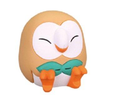 nintendo Pokemon Sun Moon Good NIght Sleeping Figure~Mokuroh Rowlet Bauz Brindibou Mokuroh Rowlet Bauz Brindibou