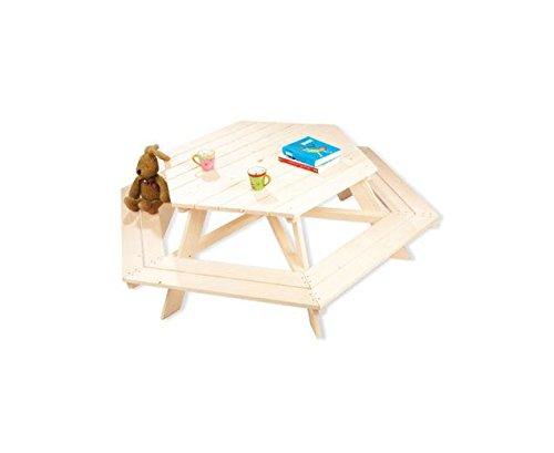 Unbekannt Pinolino Kindersitzgarnitur, 6 Eck, Garten, Outdoor, stabil, Platz für viele Kinder, zur...