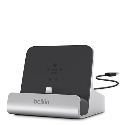 Belkin F8J088bt - Base con cable USB de 1,2 m integrado (conector Lightning, para iPhone 8/8+ y iPhone X) plateado