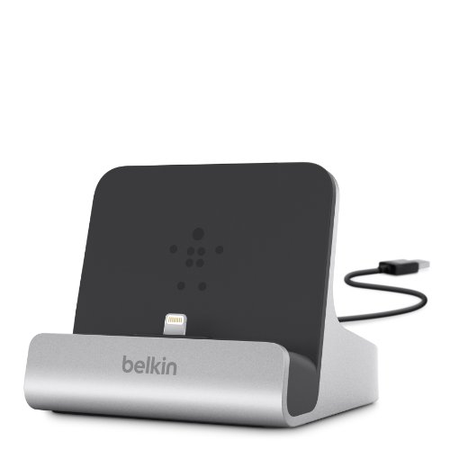 Belkin F8J088bt Dock Express Micro-USB per iPad/iPhone/iPod con Cavo USB Integrato da 1.2 m, Argento