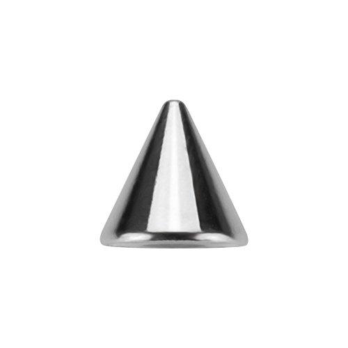 Stahl - Schraubspitze - 10er Pack (Piercing Schraub Aufsatz für Hufeisen, Stäbe, Labrets etc. silber) 1,2 mm | 3 mm