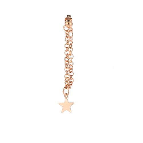YouCY 1 Stück Lady Fashion Lange Metall Quaste Stern Ohrringe Metall Kette Fransen Ohrringe As description goldfarben (Und 5 Cm Ohrringe Kette Lang)