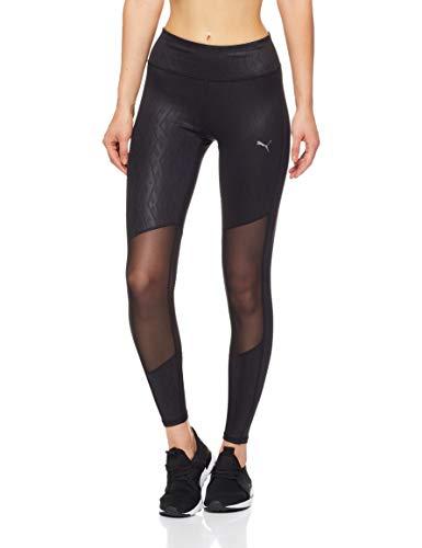 Puma Stretch Leggings (PUMA Damen Always On Graphic 7/8 Tight Hose, Black-Emboss, L)