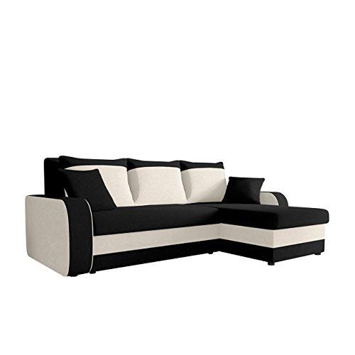 Ecksofa Kristofer, Design Eckcouch Couch! mit Schlaffunktion, Zwei Bettkasten, Farbauswahl,...