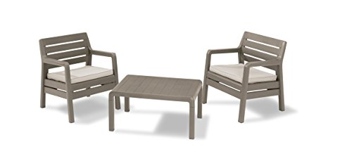 allibert-by-keter-delano-2-seater-set-outdoor-garden-furniture-cappuccino-with-sand-cushions