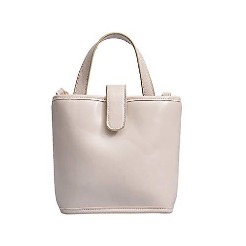 Mitlfuny handbemalte Ledertasche, Schultertasche, Geschenk, Handgefertigte Tasche,Frauen Joker Crossbody Fashion Schultertasche Bucket Bag (Ti-30x Taschenrechner Pink)