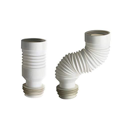 Tubo flessibile estensibile da 23 a 57 cm per collegamento scarico wc