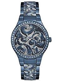 Guess Reloj Analógico para Mujer de Cuarzo con Correa en Acero Inoxidable W0843L2