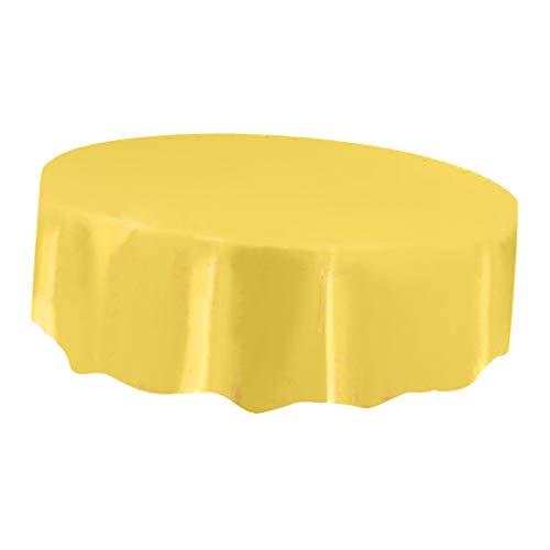 (SM SunniMix Kunststoff Tischdecke, Farben auswählbar - Gelb)