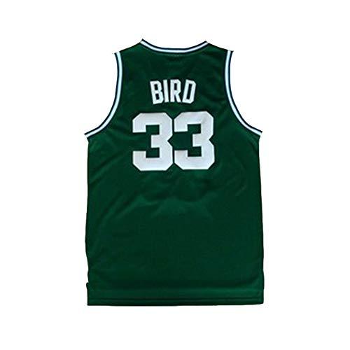 YDYL-LI Boston Celtics # 33 Larry Joe Bird Retro-Basketballfans Atmungsaktives Netz-T-Shirt Aus Jersey, Ärmellose Sportweste,L -