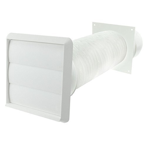 Spares2go Außenwand Belüftungs Kit for Baumatic Kochnieschen (weiß, 10,16 cm/102 mm) (Belüftung Herd)