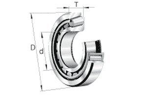 Roulement à rouleaux coniques de 32206A