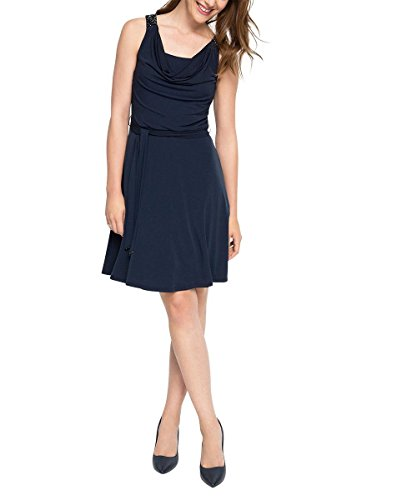 Esprit 066eo1e023-High-Qualitye Strass Application, Robe Femme Bleu - Blau (NAVY 400)