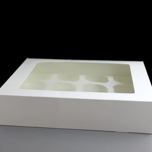 Scatole per cupcake, con finestra, per 12 dolcetti, confezione da 25 pezzi