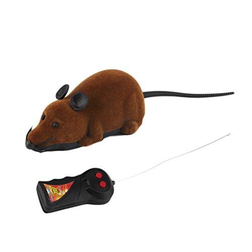 rosenice Electronic Fernbedienung Ratte Plüsch Maus Spielzeug für Katze Hund Kid (Radio Ratte)