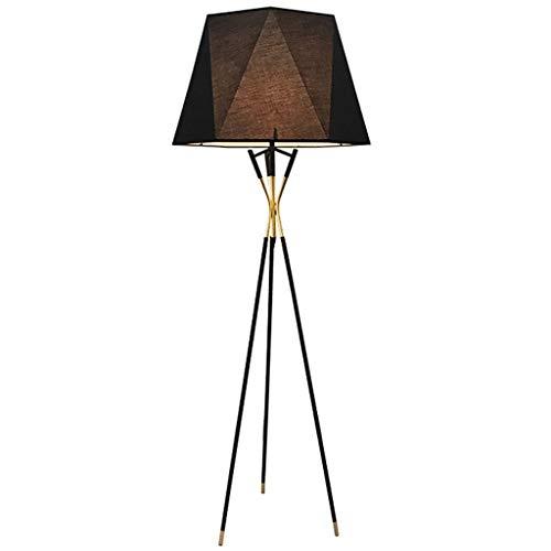 Schwarze geometrische Kegel-Dekorations-Stehlampe, Gewebe-Lampenschirm, Metallstandplatz-Lampe for das energiesparende Wohnzimmer-Schlafzimmer (Größe : 185cm) -