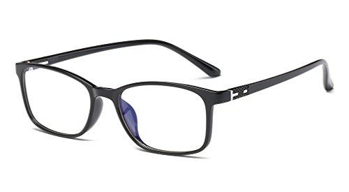 DAUCO Brille Extra Schmaler Rahmen-Slim Rechteck Nerd Clear Brille