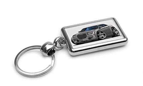 wickedartz-cartoon-car-chrysler-300c-grey-premium-metal-key-ring
