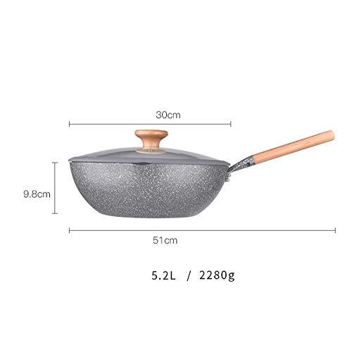 WEIFAN-Flat bottom pot Wok Multi-Funktions-Antihaft-Pfanne mit flachem Boden, geeignet für...