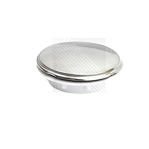 Kitchen Sink Tap Hole Blanking Plug | Screw on Round Disk Cover Plate Stopper in Chrome by ECOSPA