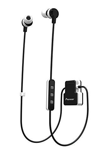 Pioneer CL5BT In-Ear Sport Kopfhörer mit Bluetooth (ClipWear), Musikwiedergabe bis zu 8 Stunden, IPX4 Spritzwassergeschützt, Freisprechfunktion, Inline-Fernbedienung, für Apple und Android, weiss