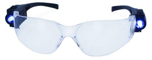 SPITS LED Lighted Rider Safety Glasses ANSI Z87.1+ OSHA Compliant by Global Vision Eyewear