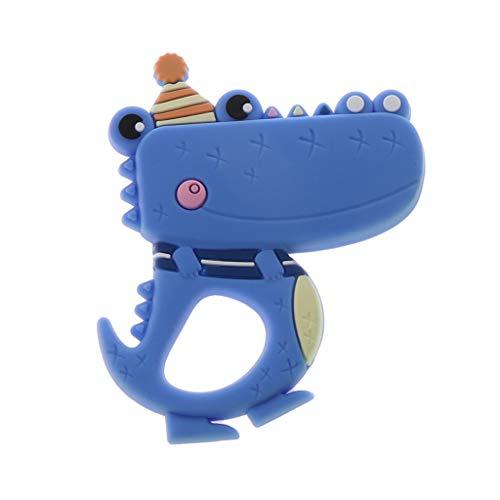 Huihu 1 stücke Krokoprägung Baby Beißring Silikon Kinderkrankheiten BPA FREI DIY Schnullerkette Spielzeug Silikon Beißring