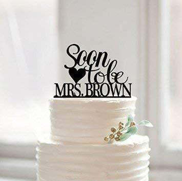 Partyzubehör Nummer Silhouette Hochzeit Bridal Dusche Kuchen Gravur Modische Designs Vintage Happy Wedding Cake Topper (Topper Cake Dusche Bridal)