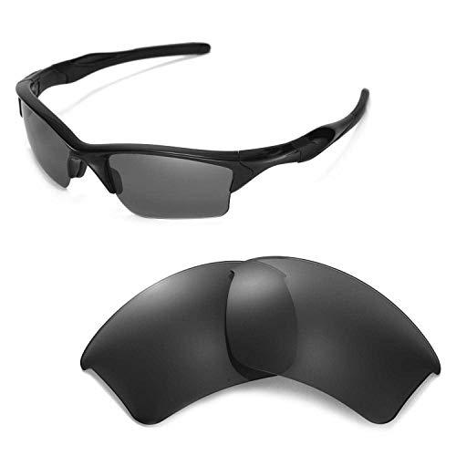 Walleva Ersatzgläser für Oakley Half Jacket 2.0 XL Sonnenbrille - Mehrfache Optionen (Schwarz - polarisiert)