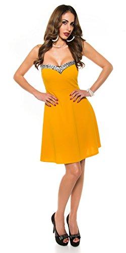 In-Stylefashion - Robe - Femme jaune jaune foncé taille unique jaune foncé