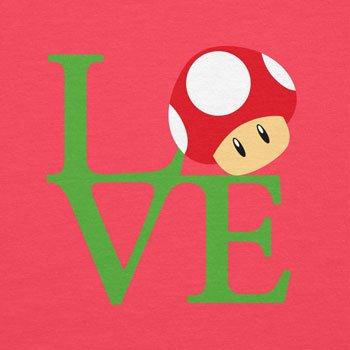 Texlab–Mushroom Love–sacchetto di stoffa Pink