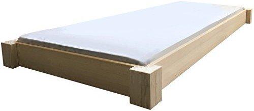 Bodentiefes Designbett Massivholzbett Bett Holz massiv 90 100 120 140 160 180 200 x 200cm hergestellt in BRD (180cm x 200cm)