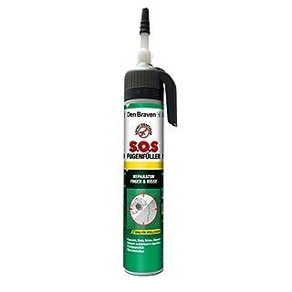 Den Braven SOS Fugenfüller 200 ml, Reparaturspachtel, regen und wetterresistent, hochwertiger Fertigspachtel Made in Germany, weiß, 4016960014977