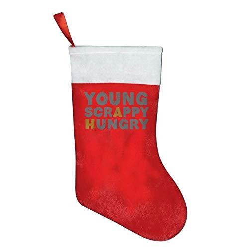 Jxrodekz Junge scrappy hungrige Neuheit des Mode-Weihnachtsstrumpfes druckte Weihnachtsfeiertags-Socken -