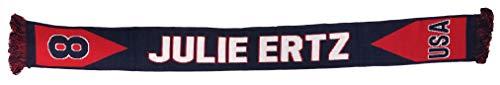 Ruffneck US Women's National Team Player-Julie Ertz Soccer Scarf, Red, One Size