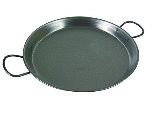 VAELLO Paellera Ferro martellato cm40 Pentole e Preparazione Cucina, Acciaio Inossidabile, Argento, 40 cm