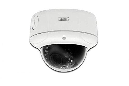 """Digitus Plug&View \""""OptiDome Pro\"""" WLAN, LAN Full-HD IP Netzwerkkamera,  1920 x 1080 Pixel, F1.4 / 2.8 - 12 mm (opischer Zoom), App-Unterstützung, Nachtsicht, Outdoor (IP66), PoE"""